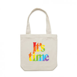 It's Pride Time Eco-Friendly Canvas Bag Thumbnail